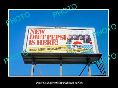 OLD LARGE HISTORIC PHOTO OF PEPSI COLA DRINK ADVERTISING BILLBOARD c1970s 6