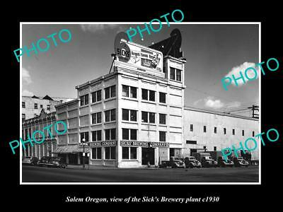 OLD LARGE HISTORIC PHOTO OF SALEM OREGON, THE SICKS BEER BREWERY Co c1930