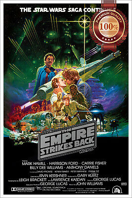 New The Empire Strikes Back 2 Star Wars Original Film Movie Print Premium Poster