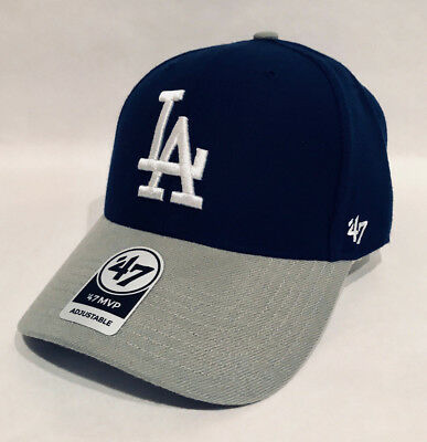 premium selection 0b699 8a48a  47 Brand Los Angeles Dodgers MVP Structured Dad Hat Cap LA Royal Blue Gray  MLB