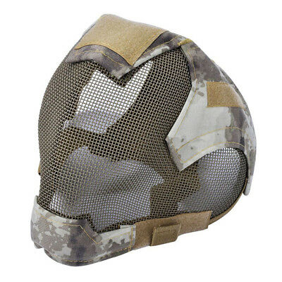 Outdoor Airsoft Mask protective full-face fencing Steel Mesh mask L1J1