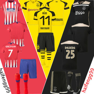 2018-2019 New Kids Football Race Team Suit Summer Home/Away Kit Jersey Outfits