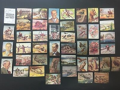 Sanitarium Weet Bix Cards 1949 Australia Yesterday and Today 42/50 Cards