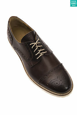TRUSSARDI COLLECTION Leather Brogue Shoes Size 43 / UK 9 Brown Made in Italy
