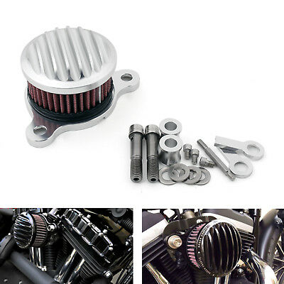 Air Cleaner Intake Filter System Kit for Harley Sportster XL883/XL1200 88-15 SIL