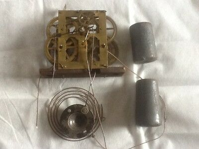 American jerome wall clock workings & weights ( spares or repairs )