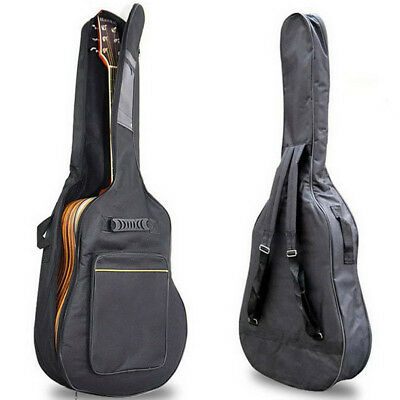 Black Acoustic Classical Guitar Bag Case Waterproof Double Straps Backpack dhp