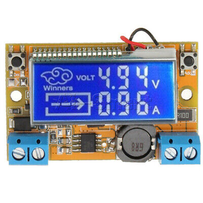 DC-DC step-down power supply adjustable push-button module with LCD display AI