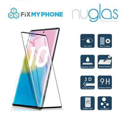 NUGLAS 3D Full Cover Screen Protector for Samsung Galaxy Note 8 9 10 10+ Plus