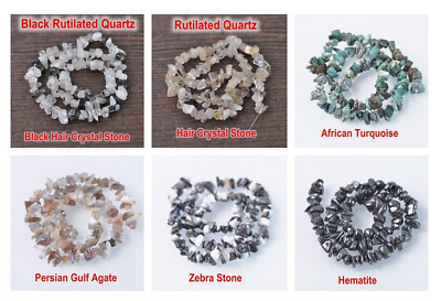 Hot 5-8mm Natural Freeform Stone Chips beads strand gemstones Jewelry Making 15""