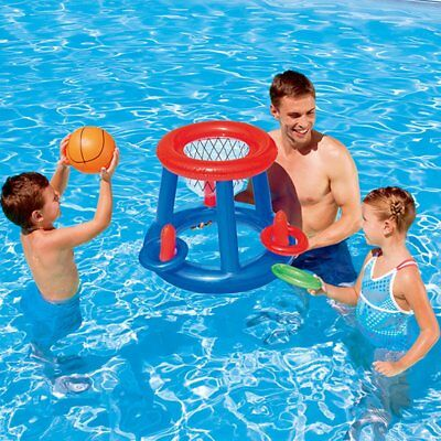Water Basketball Hoop Pool Float Inflatable Swimming Pool Toy for Children MT