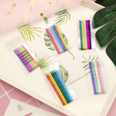20Pcs Rainbow Hair Clips Flat Top Bobby Pins Grip Salon Barrette Hairpins