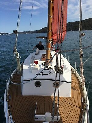 Classic Gaff rig wooden sailing yacht