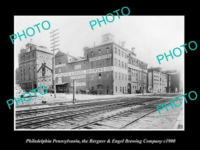 Old Historic Photo Of Philadelphia Pennsylvania, The Berner & Engel Brewery 1900
