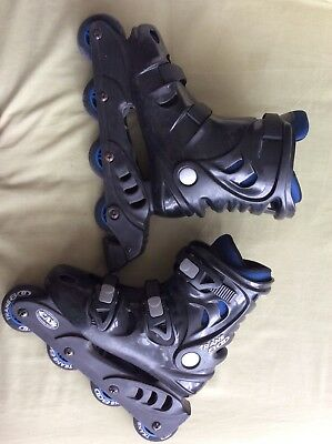 Black roller blades size : 6, blue interior