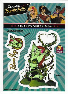 DC Comics Bombshells Poison Ivy Car Window Decal - New!