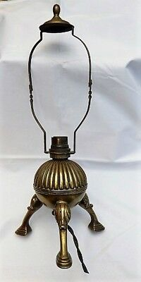 Antique Arts and Crafts Brass Lamp