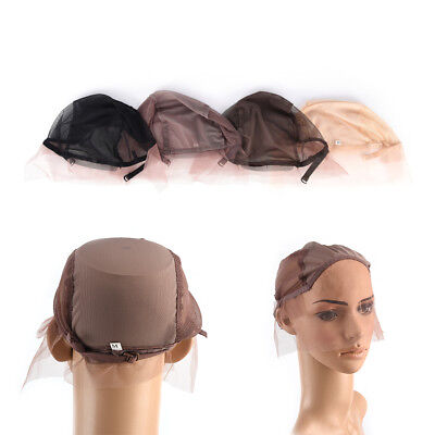 Lace Front Wig Cap for Wig Making Weave Cap Elastic Hair Net 4Colors Useable QQW