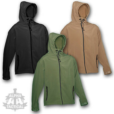 Tactical Recon Soft Shell Hoodie Military Special Forces Jacket Police Security