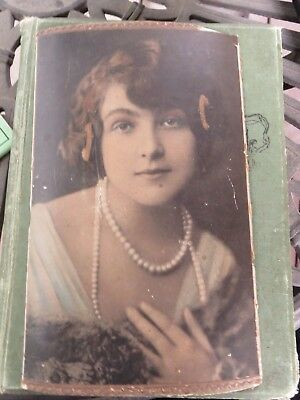 Original Art Deco Woman with Pearl Necklace Jewelry Photograph