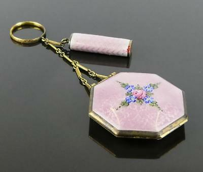 Lavender Guilloche Enameled Ring Tango Compact