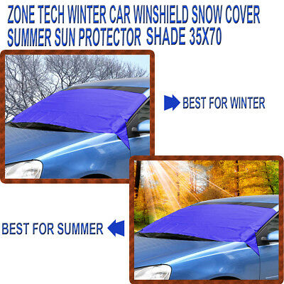 Zone Tech  Winter Windshield Snow Cover Summer Sun Protector Shade Shield