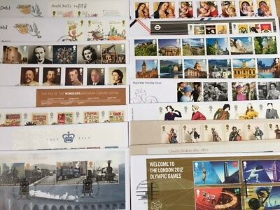 FDCs - GB 2012 First Day Covers - Commemorative-FDC MULTIPLE LISTING