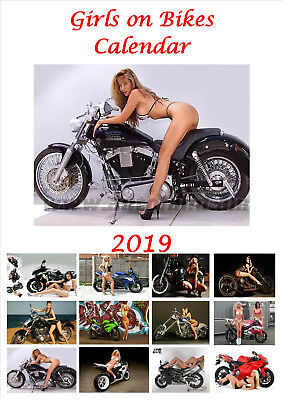 Girls on Bikes Calendar 2019 Portrait A4