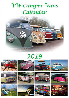 VW Campers Calendar 2019 Portrait A4