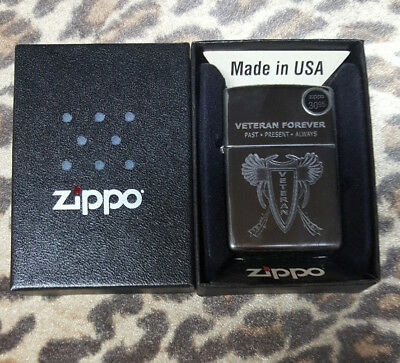 Zippo Genuine Veteran Forever Past Present Always Lighter, special edition