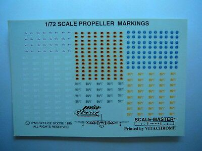 SCALEMASTER  1/72 Propeller Markings  Decals  OOP, LOW PRICE, Low Shipping