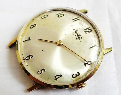 Vintage Bentima Star 17 Jewels Swiss Made Hand winding Gent Dress watch, Working