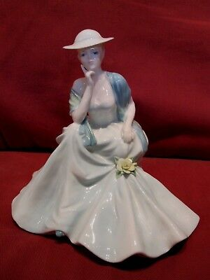 Stunning Retired Coalport Figurine Entitled Hayley Ladies Of Fashion Collection