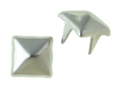 600 METALL PYRAMIDE Punk KILLERNIETEN ZIERNIETEN DIY SPIKE 6mm SILBER WOW 4-611