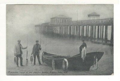 1911 Postcard:Fishermen with Morning Catch at the Fishing Banks  Asbury Park, NJ