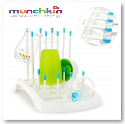 Baby Bottle Drying Rack Munchkin Bottles Dryer Teats Drainer Drain Draining Tray