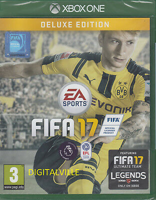 FIFA 17 Deluxe Edition Xbox One Brand New Factory Sealed Soccer game