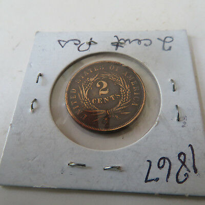 Coin U.s.  1867     2 Cents