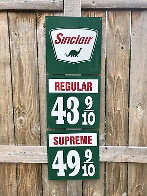 Sinclair Gasoline sign rare 3 piece vintage reproduction 1940-50s Pump Gas Oil
