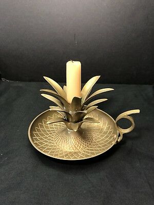 Antique Brass Pinapple Candle Holder
