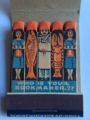 Vtg Feature Matchbook Roy's Sea Food On The Old Long Beach Road Long Island