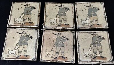6 Arts & Crafts Art Pottery Tiles