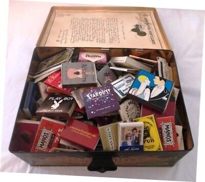 1.5 lbs Vintage Bulk Matchbooks Collection Lot in Jack Daniels #7 Tin 1960-1980s