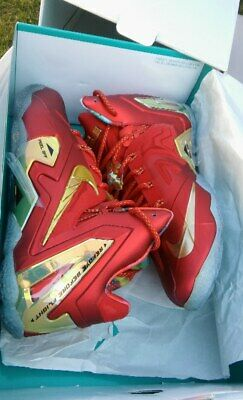 d4a012c92e368 NIKE LeBron 11 ELITE SE University Red W  Metallic Gold SZ 10 (SEND OFFERS