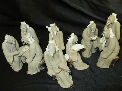 Asian Oriental Vintage Detailed China Mud Men Mudmen Miniature Bonzai lot