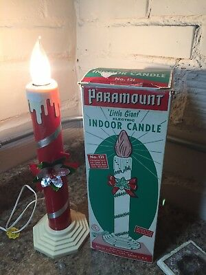 "Vintage Paramount ""Little Giant"" electric indoor Christmas candle with box"