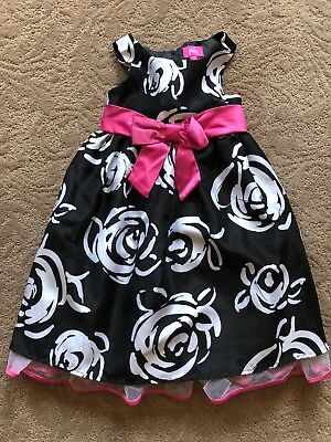 Pinky Girls Black White Pink Party  Girl Dress Size 5