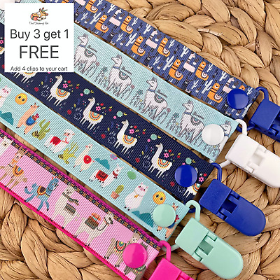 Dummy Clip pacifier chain dummie binky baby gift clips soother holder Llama