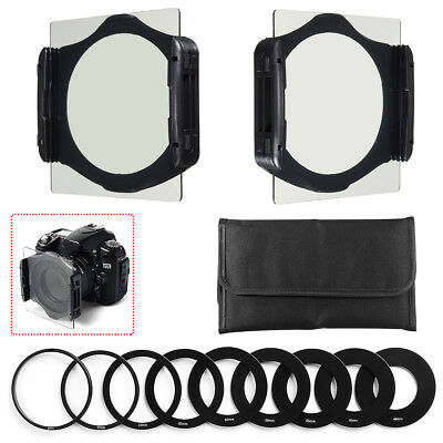 Neutral Density Filter ND2 ND4 ND8 Full Set +Ring Adapters + Holder For Cokin P