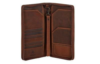 Visconti 728 Large Leather Travel Wallet for Passports, Tickets and Credit Cards